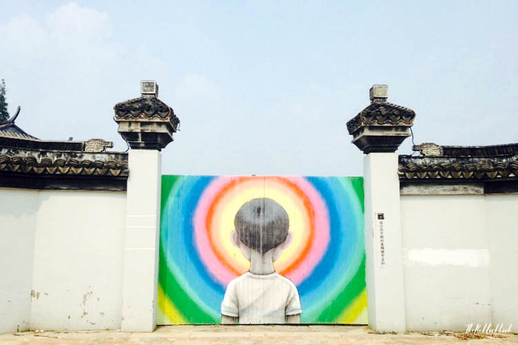 graffiti town near Shanghai Fengjing Boy