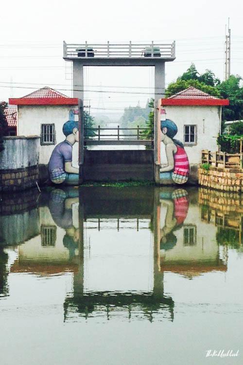 Graffiti Town near Shanghai Fengjing River