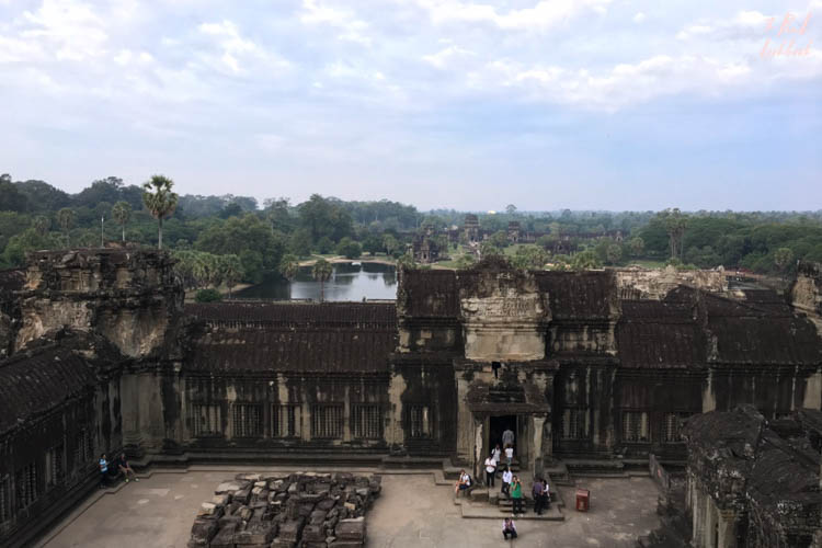 Angkor Wat View from Courtyard Entrance Lake