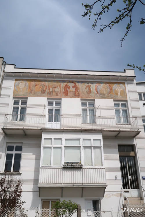 Brunn Jugendstil House Angel Fresco