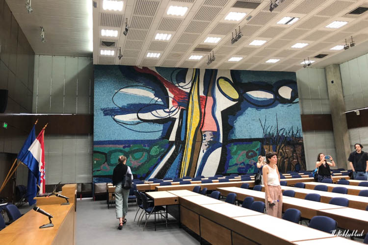 Croatian Contemporary Art Zagreb Communist Headquarters Plenary Room
