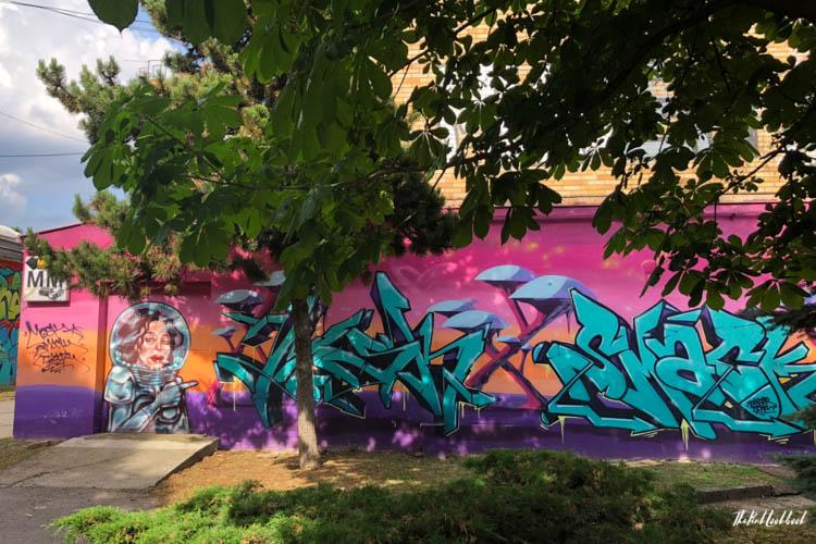 Street Art Zagreb Female Astronaut