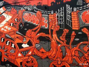Street Art Zagreb Halloween