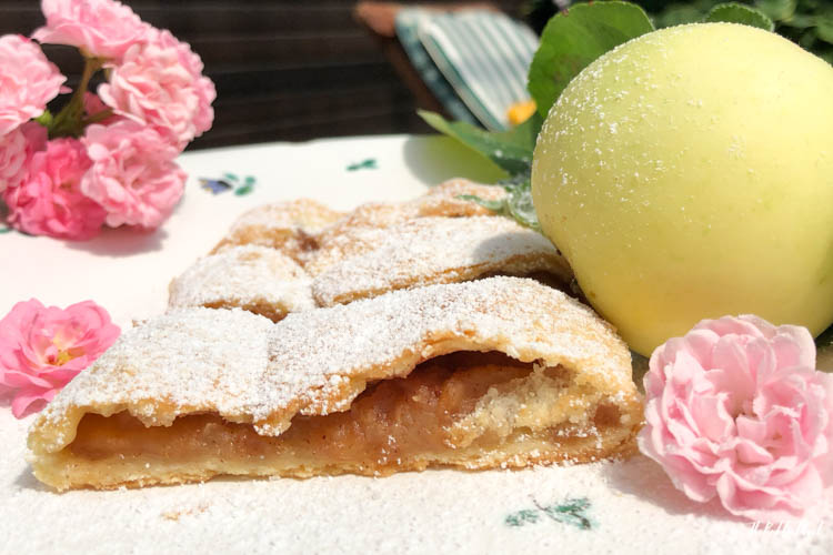 Baking Austrian Pastries with Oma Smorbs Special Apple Strudel Detail