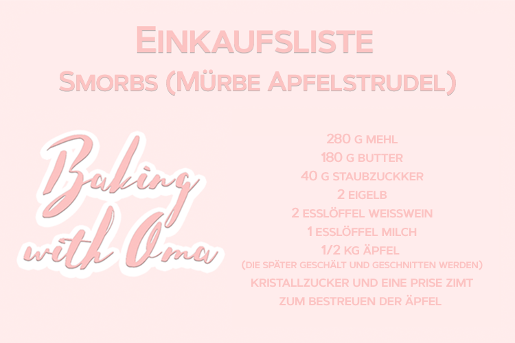 Baking Austrian Pastries with Oma Einkaufsliste Smorbs