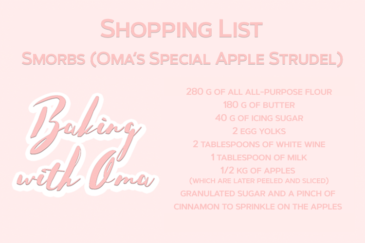 Baking Austrian Pastries with Oma Shopping List Smorbs