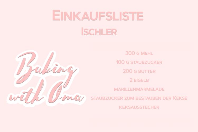 Christmas Baking Oma Ischler Einkaufsliste