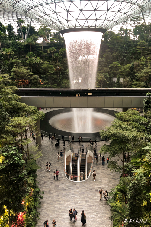 Singapore Changi SIN Airport Guide Terminal Map with Jewel Indoor Waterfall