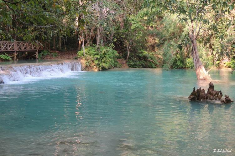 Luang Prabang Kuang Si Waterfall Bear Reserve Blue Water