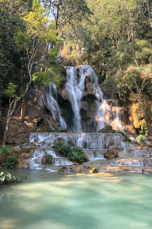 Luang Prabang Kuang Si Waterfall Bear Reserve Main Waterfall