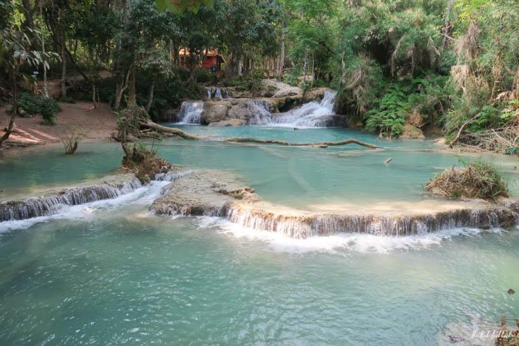 Luang Prabang Kuang Si Waterfall Bear Reserve View