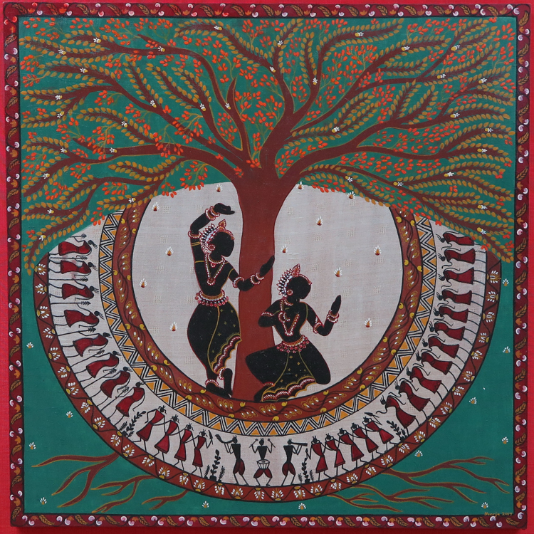 A Modern Interpretation of Traditional Indian Art Interview with Artist Neerja Tata Kalpavriksha A Sacred Canopy