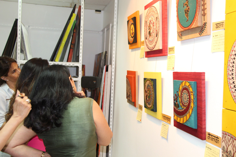 A Modern Interpretation of Traditional Indian Art Interview with Artist Neerja Tata Visitors Discuss Works