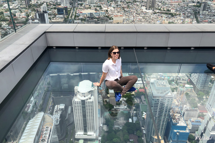 Personal Review of Bangkok's Highest Glass Skywalk Is King Power Mahanakhon Worth Visiting Sitting on Glass