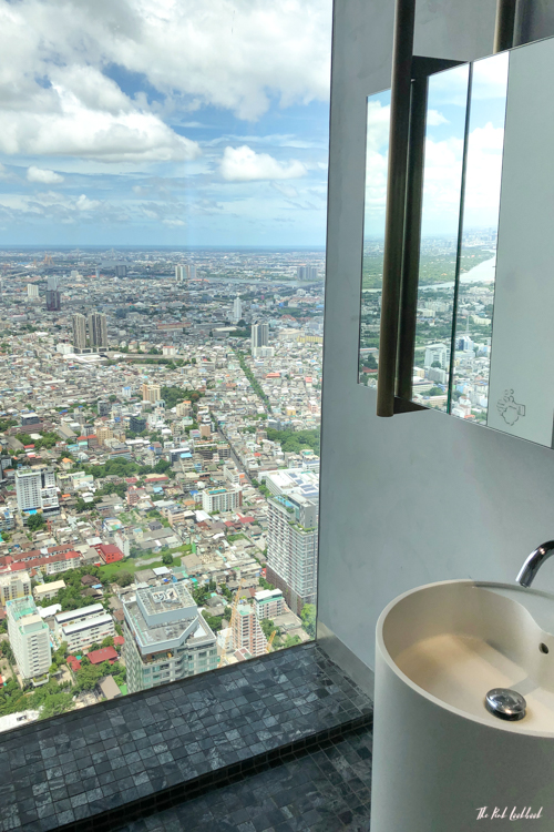 Personal Review of Bangkok's Highest Glass Skywalk Is King Power Mahanakhon Worth Visiting View Bathroom