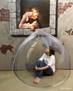 Things to Do in Bangkok - Interactive Illusions at the Art in Paradise Museum Soap Bubbles