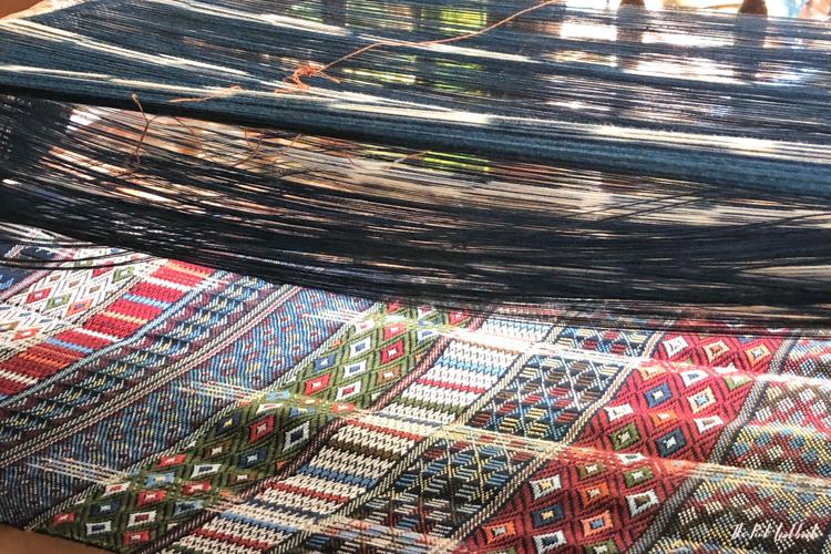 Studio Naennas Textiles with an Impact Lamorna Cheesman Ikat Weaving Detail