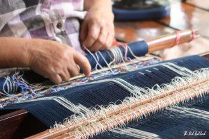 Studio Naennas Textiles with an Impact Lamorna Cheesman Saeng Weaving Ikat