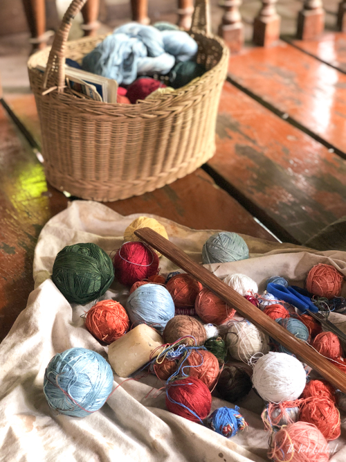 Studio Naennas Textiles with an Impact Lamorna Cheesman Ikat Weaving Naturally Dyed Yarns