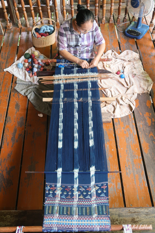 Studio Naennas Textiles with an Impact Lamorna Cheesman Saeng Weaving Ikat Perspective