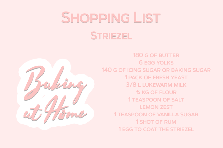 Baking at Home Striezel Shopping List